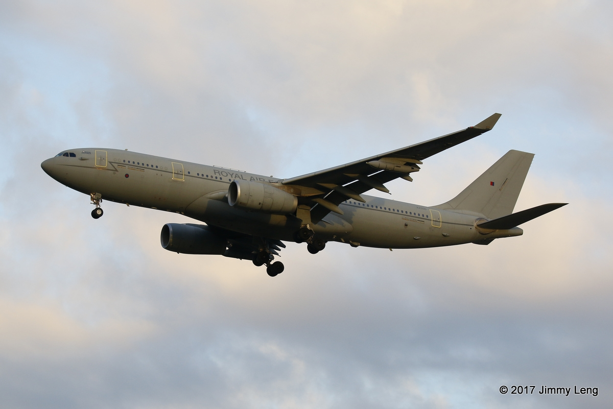 Royal Air Force A330-243 MRTT KC2 Voyager (MSN 1046) ZZ330 on short finals runway 21 PER at 0621hrs Thu 16 Feb 2017 from Nairobi, Kenya. The aircraft departed PER in the early hours of Fri 17 Feb 2017. © Jimmy Leng