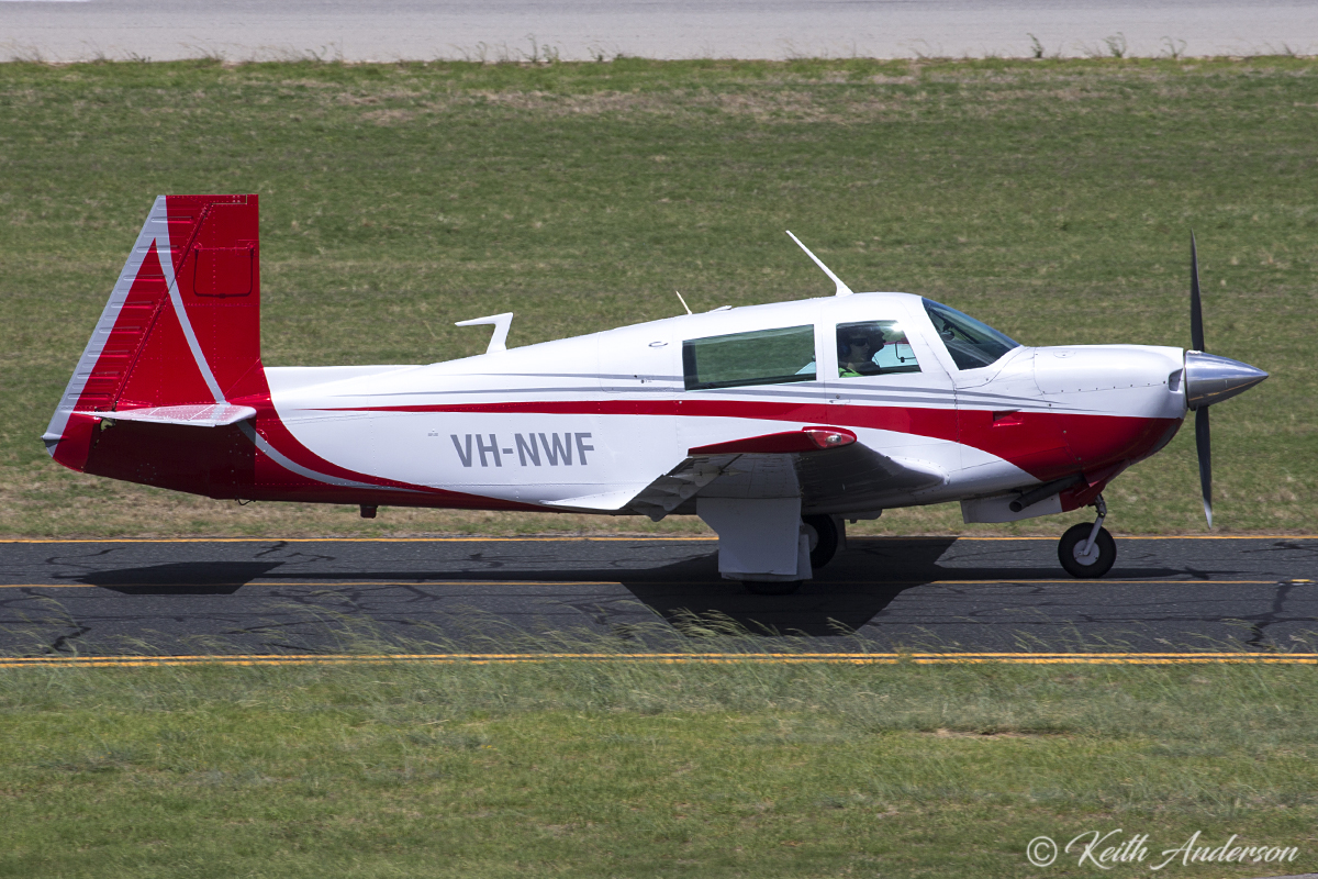 VH-NWF Mooney M20J (MSN 24-0587) of Mark Weller, Albany at Jandakot Airport – 21 February 2017.