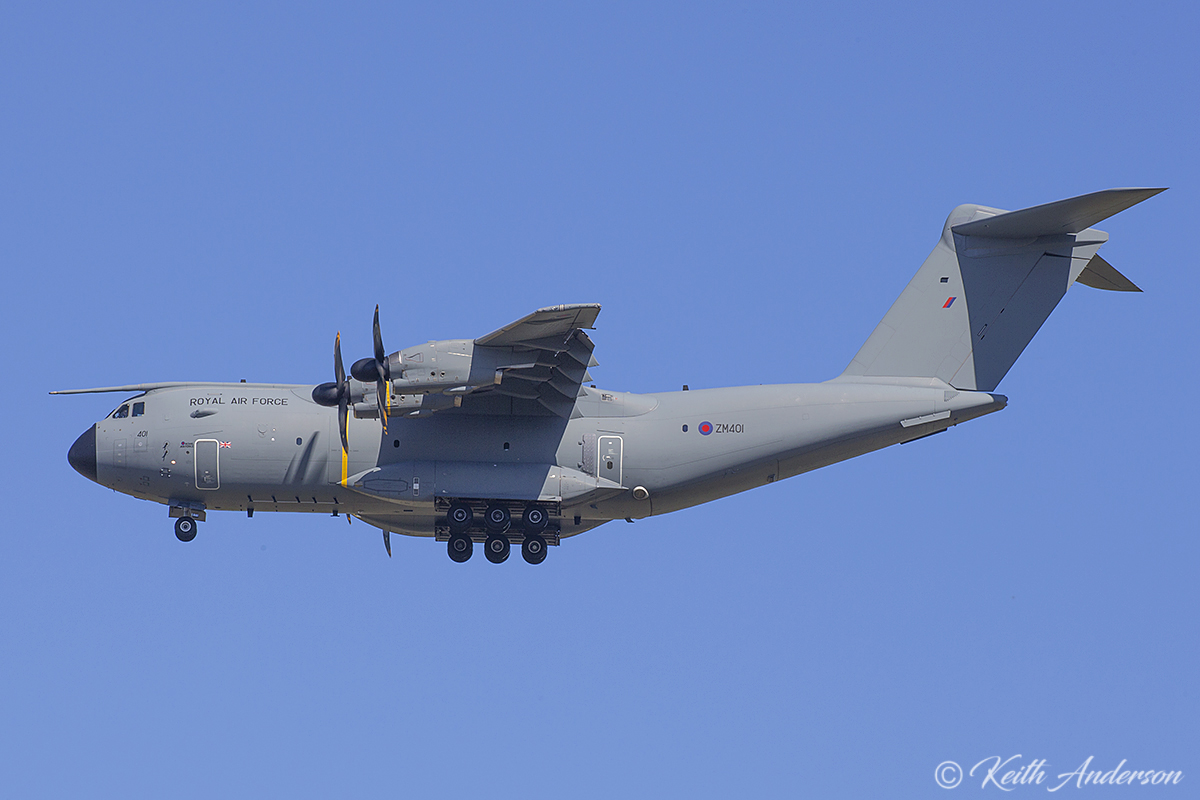 ZM401 Airbus A400M Atlas (MSN 016) of Royal Air Force at RAAF Base Pearce – 3 March 2017.