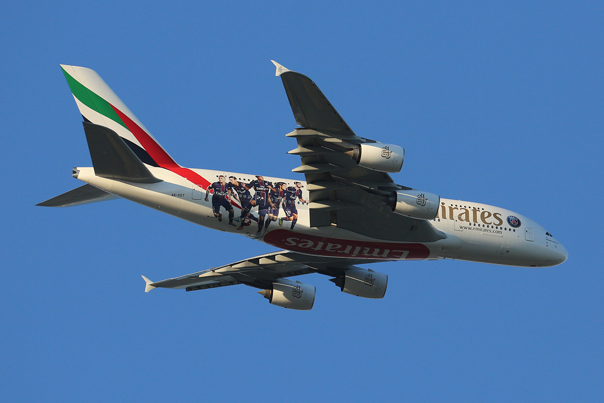 A6-EET Airbus A380-861 (MSN 142) of Emirates at Perth Airport – 9 March 2017.