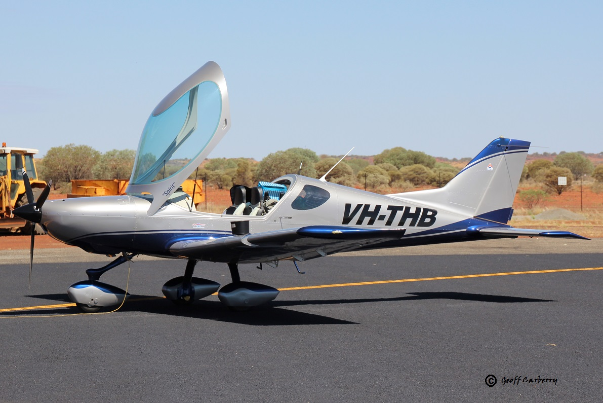 VH-THB Rokospol VIA (MSN VIA0710/2013), named 'Spirit', owned by Spencer E Flint of Sunbury, VIC, at Meekatharra Airport - 16 March 2017. Refuelling enroute from Kalgoorlie to Shark Bay. This two-seat aircraft was designed in the Czech Republic and this one was built in 2013. Photo © Geoff Carberry
