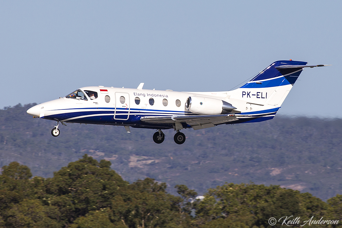 PK-ELI Beech 400A Beechjet (BE-40) (MSN RK-111) of Elang Indonesia at Perth Airport – 29 March 2017.