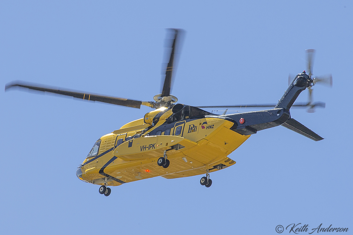 VH-IPK Sikorsky S-92A Helibus (MSN 920104) of HNZ Australia/PHI at Perth Airport 29 March 2017.