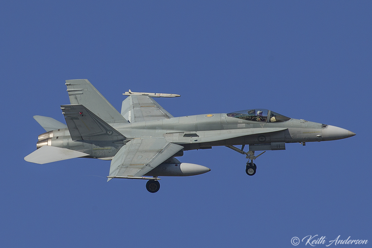A21-11 McDonnell-Douglas F/A-18A Hornet (MSN 334/AF-11) of 75 Squadron, RAAF, in 2 OCU markings, at RAAF Pearce - Mon 6 March 2017.