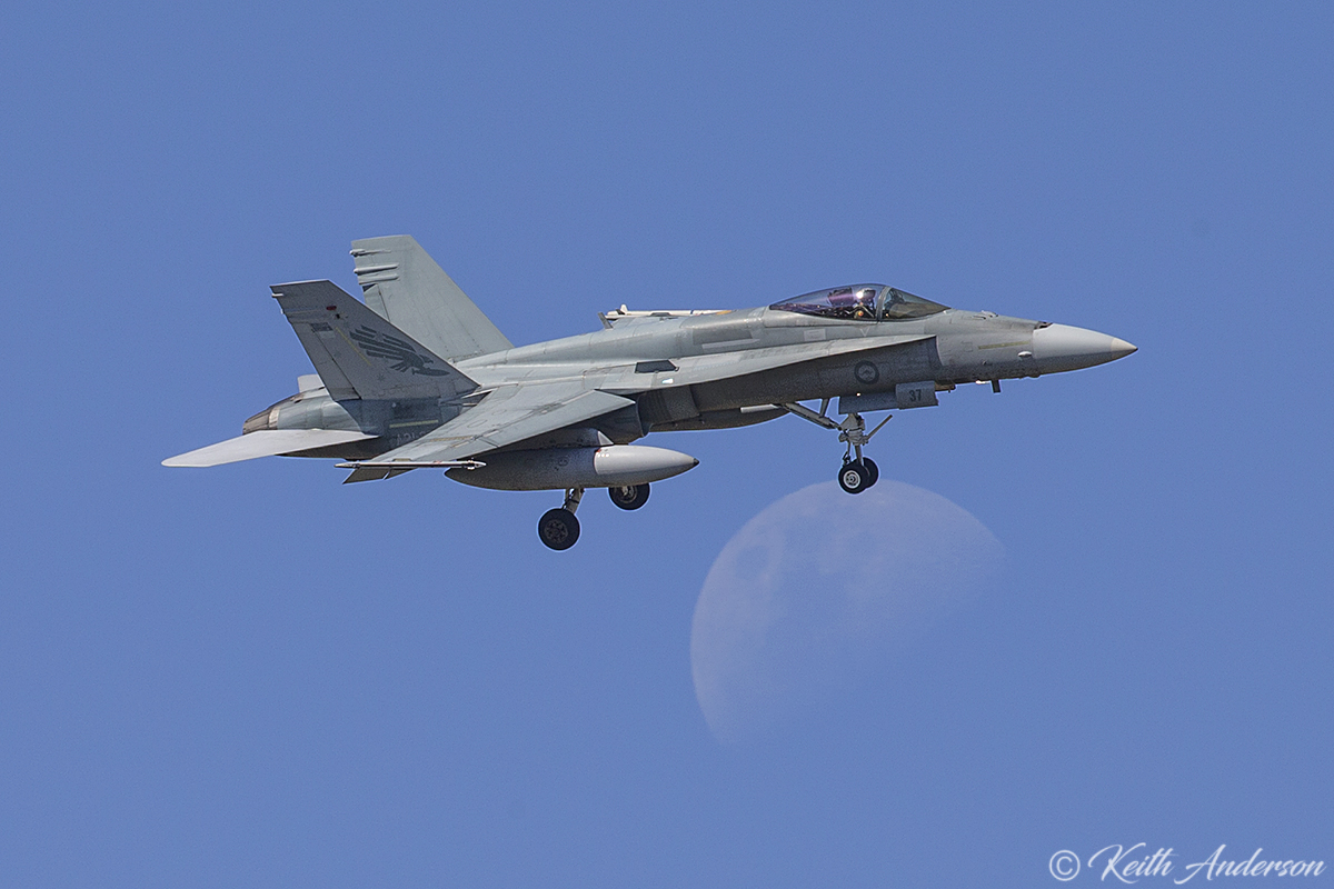 A21-37 McDonnell-Douglas F/A-18A Hornet (MSN 640/AF-37) of 75 Squadron, in 3 Squadron markings, at RAAF Pearce - Mon 6 March 2017.