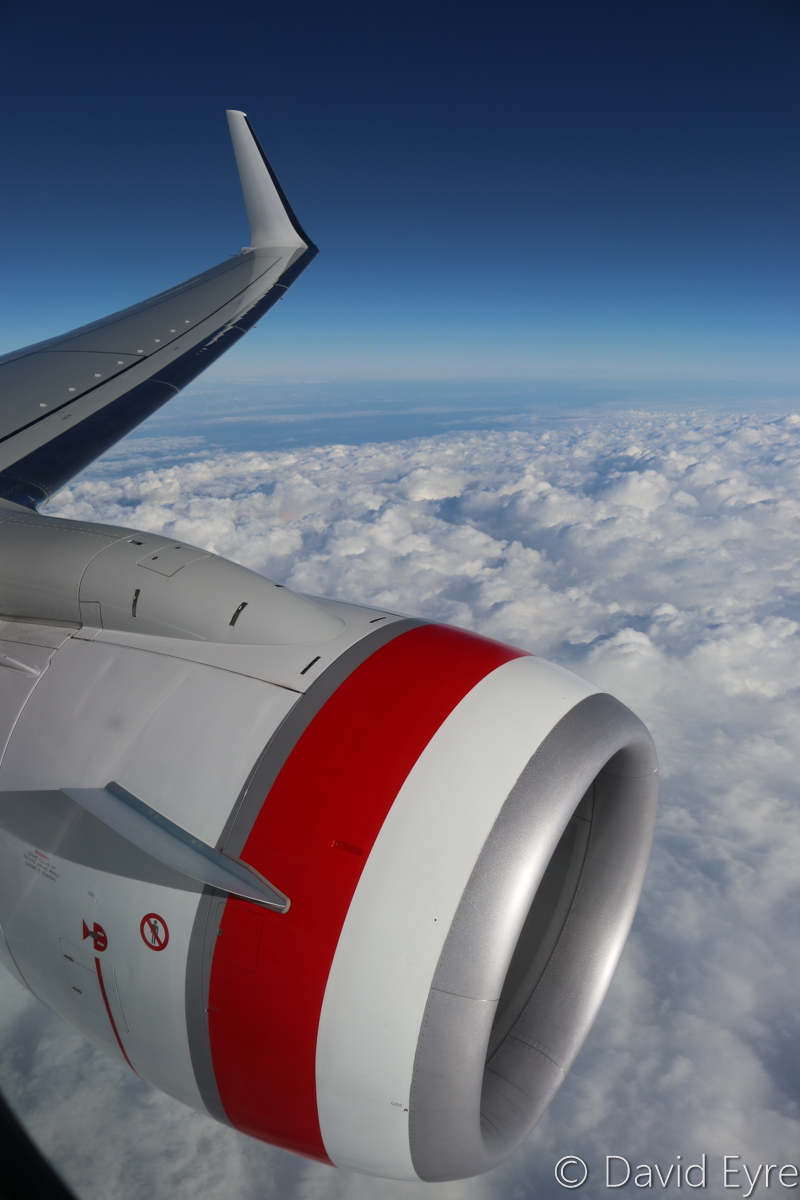 Clouds over Koolyanobbing, seen from VH-YFW Boeing 737-8FE (MSN 41037/5978) of Virgin Australia, named 'Turquoise Bay' – Wed 22 March 2017. 424 km East of Perth; 54 km North North East of Southern Cross. View facing northwest at 33,000 feet on flight VA1849 from Perth to Kalgoorlie at 7:45am. Photo © David Eyre