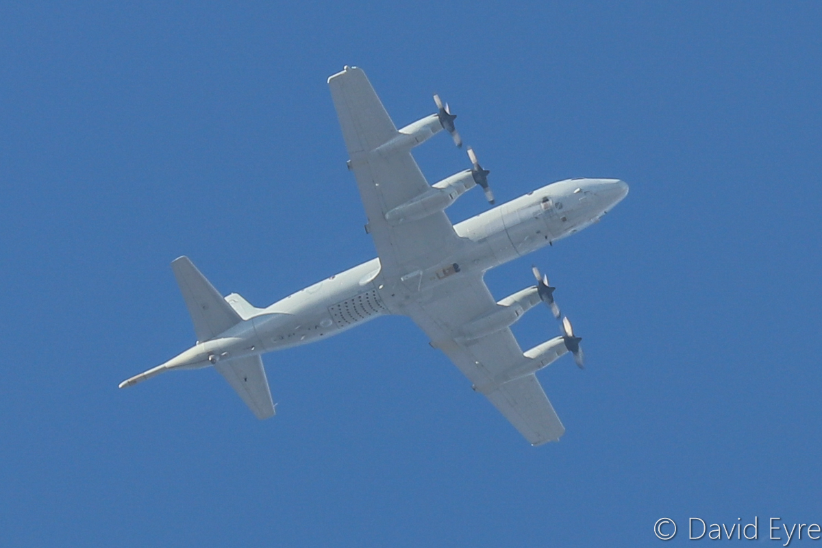 A9-... Lockheed AP-3C Orion of 10 Squadron, RAAF, over Perth Airport - Thu 23 March 2017. 'STRIKER 40' climbing through 10,000 feet at 4:30pm en route from RAAF Pearce, north of Perth, to its base at RAAF Edinburgh, near Adelaide. Photo © David Eyre