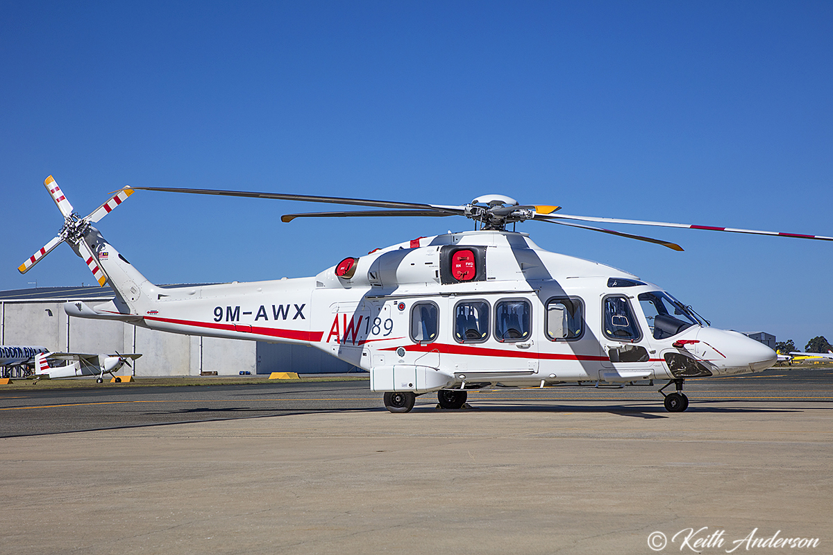 9M-AWX Augusta AW189 (MSN 49029) at Jandakot Airport – 2 April 2017.