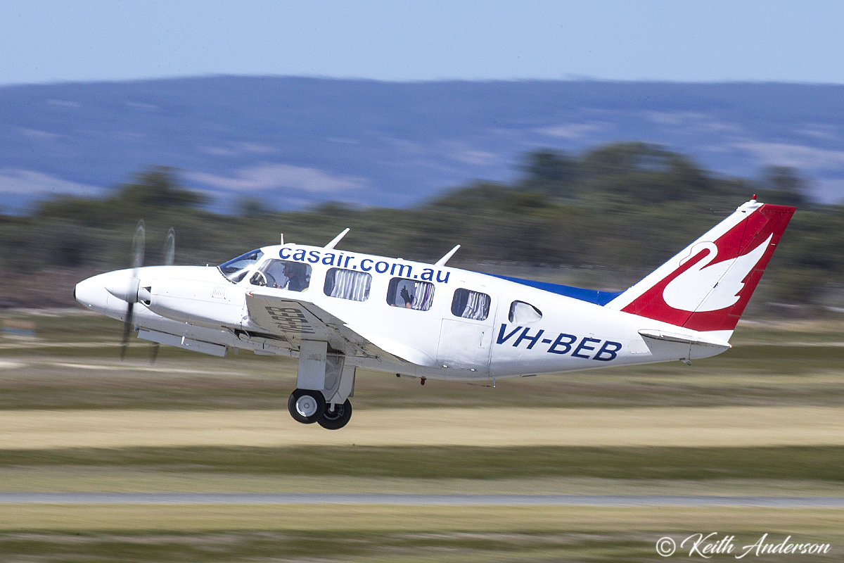 VH-BEB Piper PA-31-310 Navajo (MSN 31-41) of Casair at Jandakot Airport – 2 April 2017.
