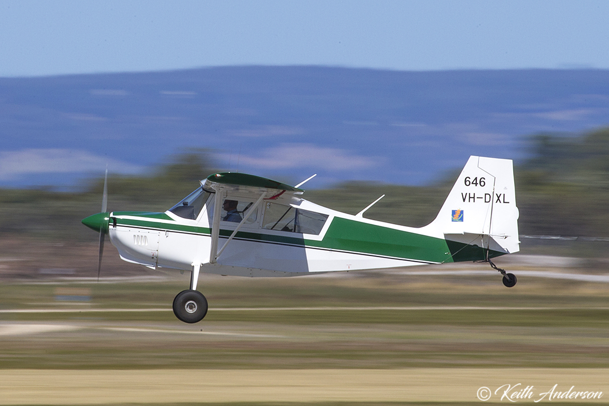 VH-DXL / SPOTTER646 American Champion 8GCBC Scout (MSN 516-2009) of the Department of Parks and Wildlife, at Jandakot Airport – 2 April 2017.