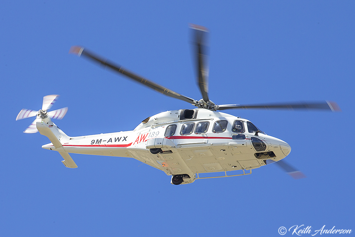 9M-AWX Augusta AW189 (MSN 49029) at Jandakot Airport – 3 April 2017.