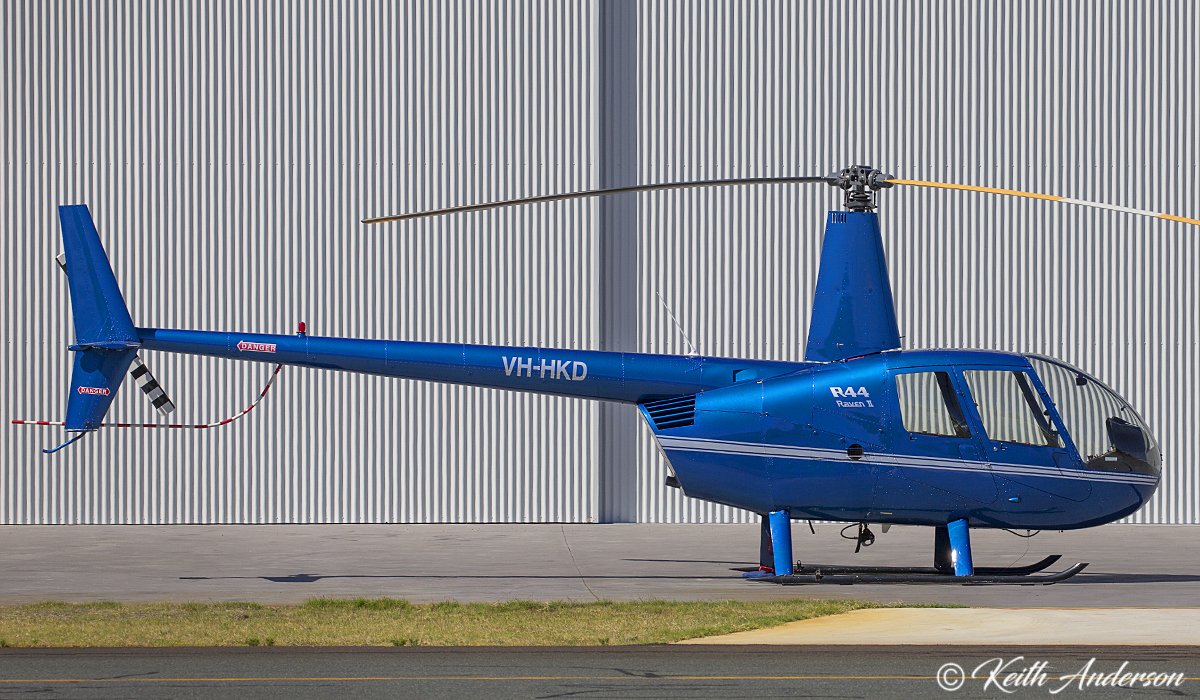VH-HKD Robinson R44 Raven II (MSN 11656) owned by Kiriakos K Moshovis, at Jandakot Airport – 8 April 2017.