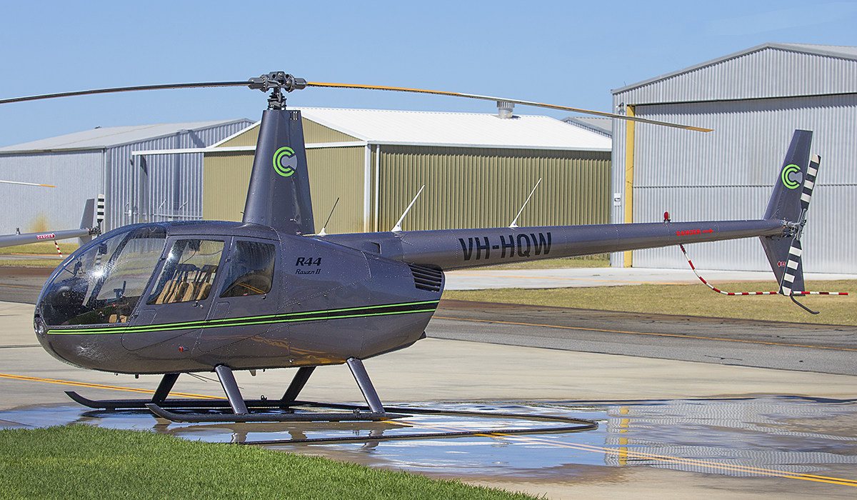 VH-HQW Robinson R44 (MSN 11908) at Jandakot Airport – 8 April 2017.