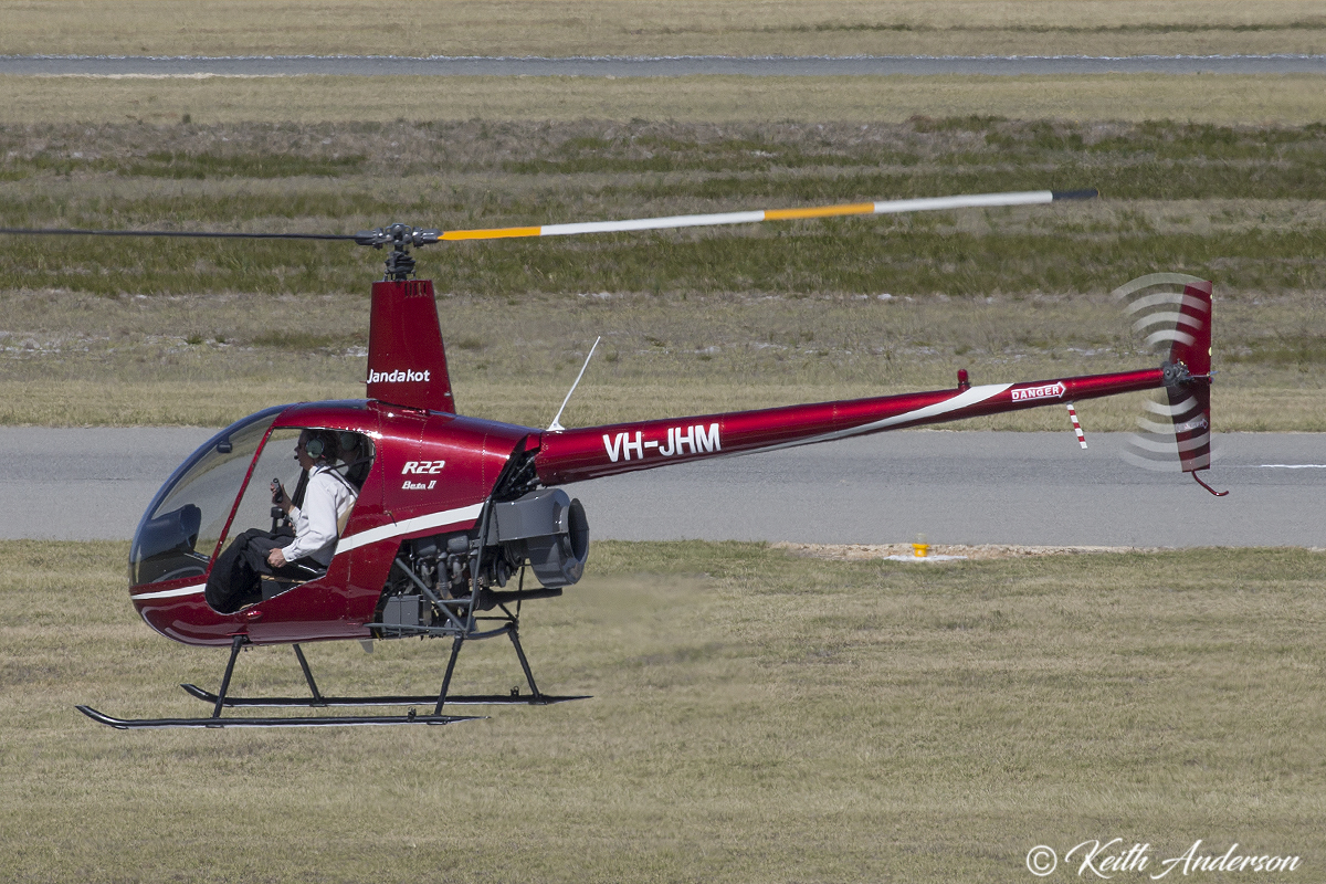 VH-JHM Robinson R22 Beta II (MSN 4104, ex N7533N, VH-HVR) owned by Adrian Thomas at Jandakot Airport – 8 April 2017.