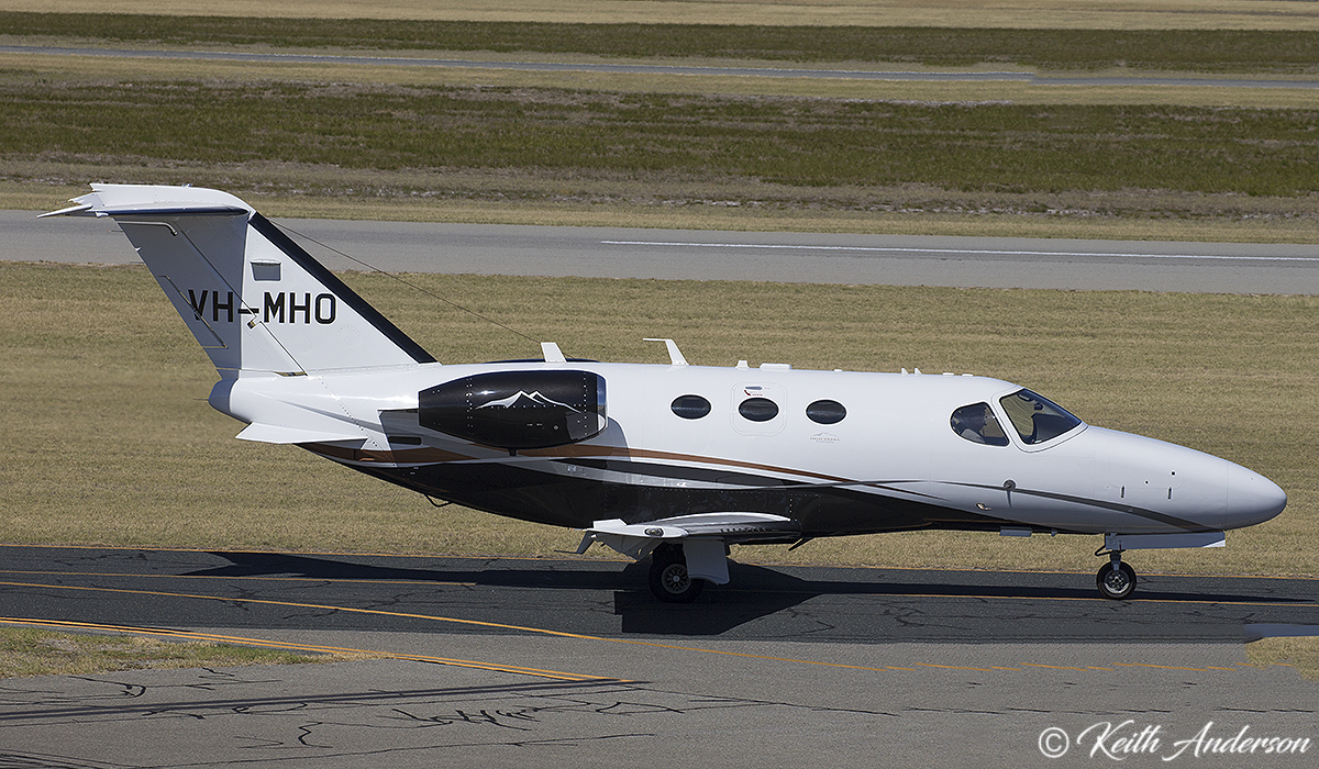 VH-MHO Cessna 510 Citation Mustang (MSN 510-0363) owned by Tadmar Investments Pty Ltd, at Jandakot Airport – 9 April 2017.