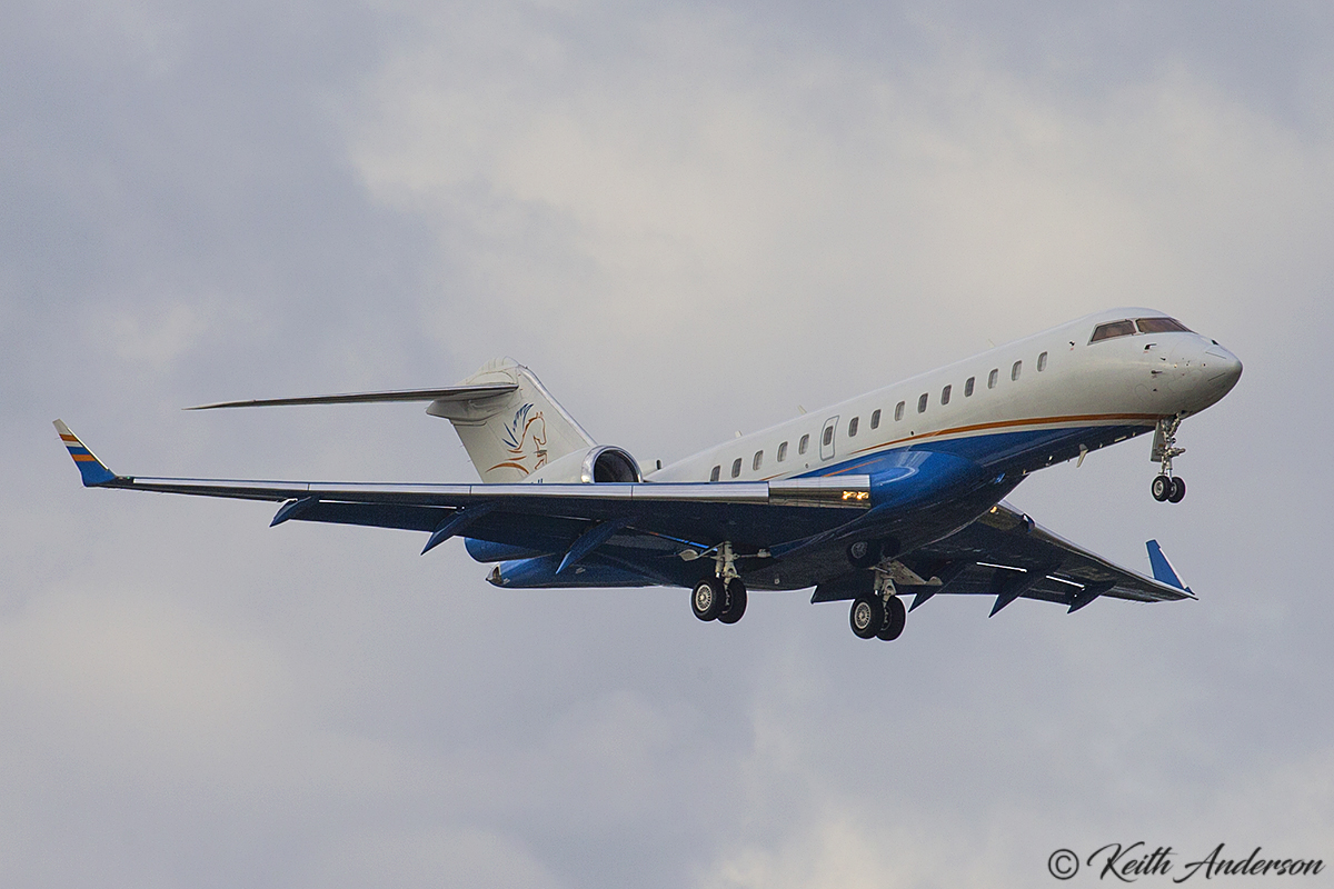VP-BJI Bombardier BD-700-1A 10 Global Express (MSN 9276) at Perth Airport – 14 April 2017.