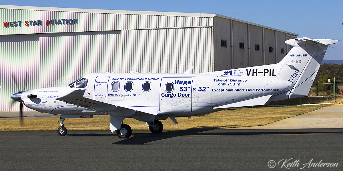 VH-PIL Pilatus PC-12/47E (MSN 1693) of Pilatus Australia at Jandakot Airport – 29 April 2017.