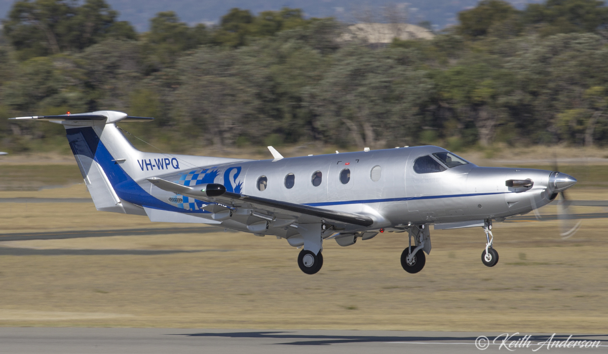 VH-WPQ Pilatus PC-12/47E (MSN 1394) of WA Police at Jandakot Airport – 29 April 2017.
