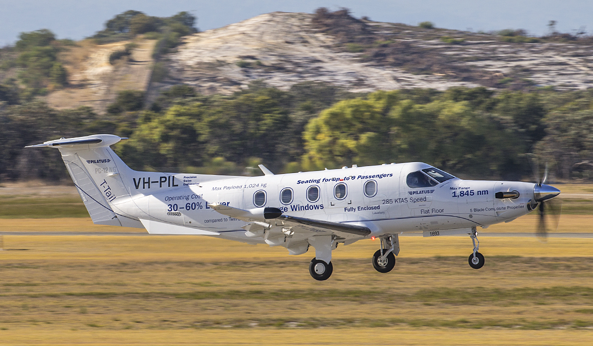 VH-PIL Pilatus PC-12/47E (MSN 1693) of Pilatus Australia at Jandakot Airport – 30 April 2017.