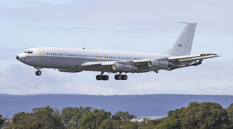 272 Boeing 707-3L6C (MSN 21096) of Israeli Air Force at Perth airport – 22 May 2017.