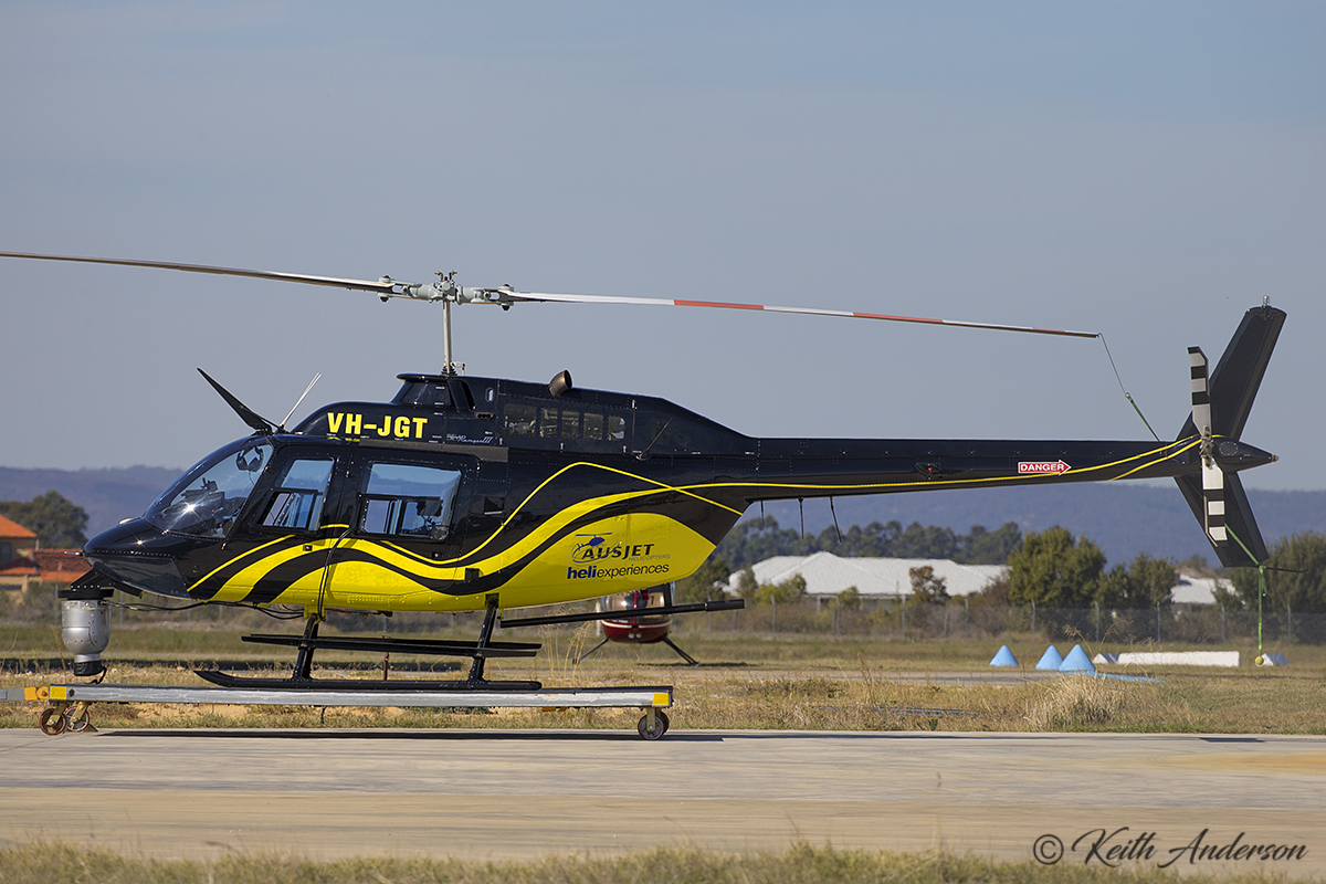 VH-JGT Bell 206B Jetranger (MSN 1822) of Ausjet helicopters at Jandakot Airport – 30 May 2017.