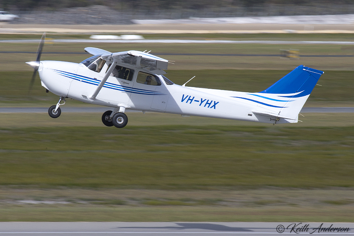VH-YHX Cessna 172S Skyhawk SP (MSN 172S10866) owned by Airflite Pty Ltd, being cross-hired by Singapore Flying College, at Jandakot Airport – 30 May 2017.