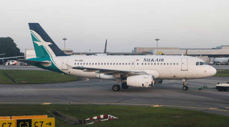 9V-SBG Airbus A319-133 (MSN 4215) of SilkAir, at Singapore-Changi Airport - 16 January 2015. Photo © David Eyre