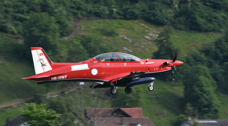 HB-HWF/A54-006 Pilatus PC-21 (MSN 239) of the Royal Australian Air Force, in 2 Flying Training School markings, at Stans, Switzerland - Fri 2 June 2017. Departing the Pilatus Aircraft facility at Stans, Switzerland on its delivery flight to Australia, in company with HB-HWE/A54-005 (MSN 238). Photo © Stephan Widmer