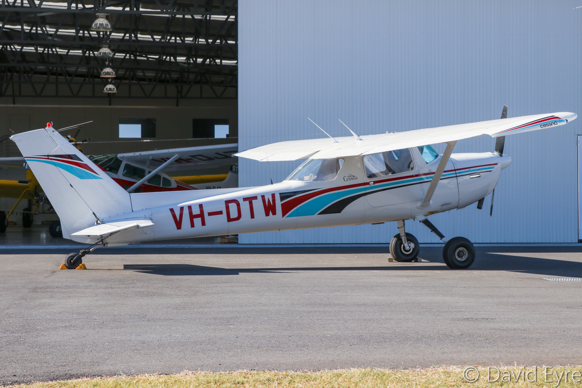 VH-DTW Cessna 150M (tailwheel conversion) (MSN 15077813) owned by Philip J Dunn, at Jandakot Airport - 6 June 2017. Built in 1976, ex (N7687U). Photo © David Eyre