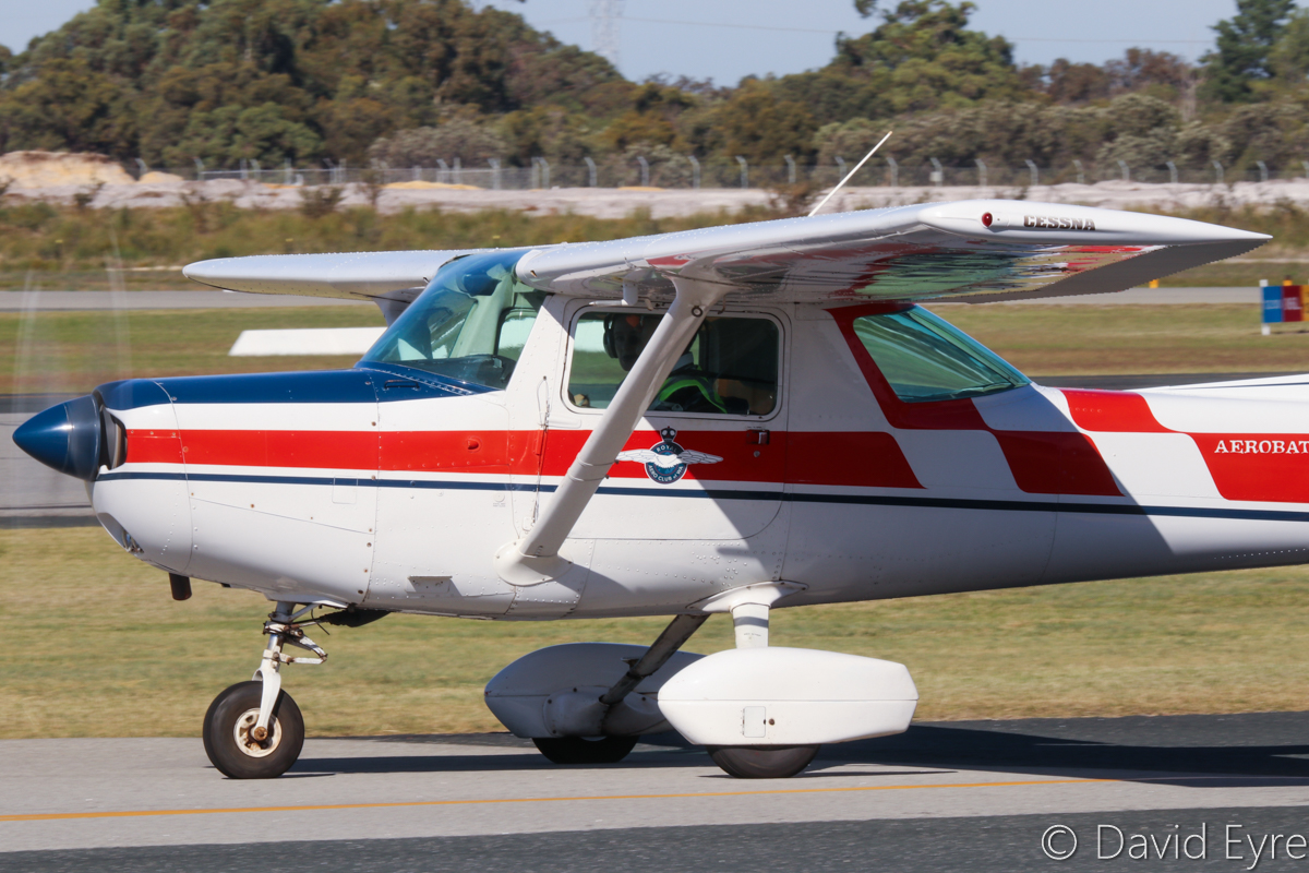 VH-IBP Cessna A152 Aerobat (MSN A1520795) of the Royal Aero Club of Western Australia Inc, at Jandakot Airport - 6 June 2017. Taxying out for a training flight. Built in 1978, ex N1900C, N7376L. Photo © David Eyre
