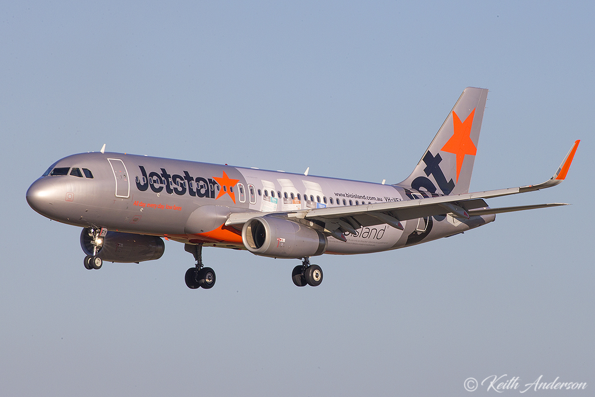 VH-VFY Airbus A320-232 (MSN 6362) of Jetstar at Perth Airport – 8 June 2017.