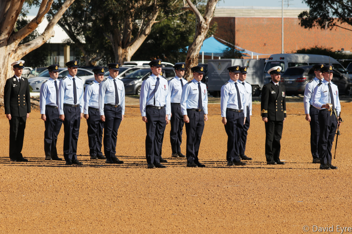 Pilots from 247 Pilots Course, on parade at their graduation ceremony, RAAF Pearce - Fri 9 June 2017. Photo © David Eyre