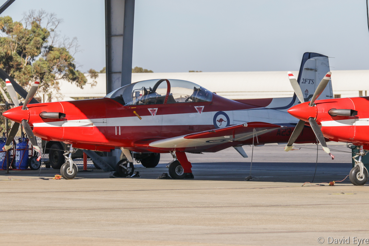 A23-011 Pilatus PC-9/A (MSN 511) of 2 Flying Training School (2 FTS), RAAF, at RAAF Pearce - Fri 9 June 2017. Photo © David Eyre