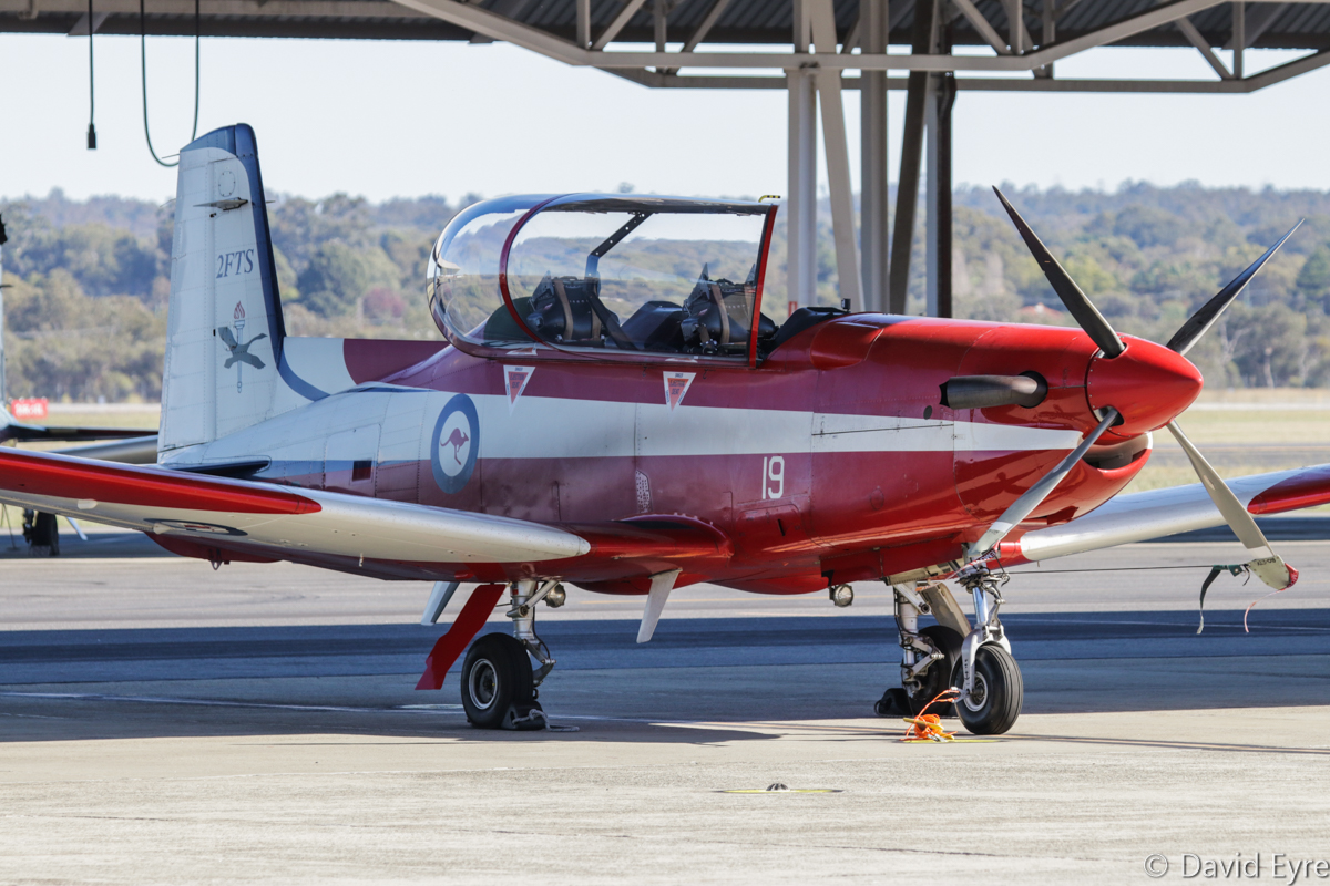 A23-019 Pilatus PC-9/A (MSN 519) of 2 Flying Training School (2 FTS), RAAF, at RAAF Pearce - Fri 9 June 2017. Photo © David Eyre