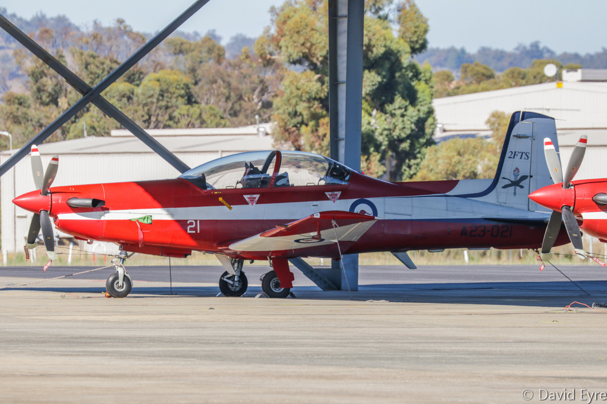 A23-021 Pilatus PC-9/A (MSN 521) of 2 Flying Training School (2 FTS), RAAF, at RAAF Pearce - Fri 9 June 2017. Photo © David Eyre