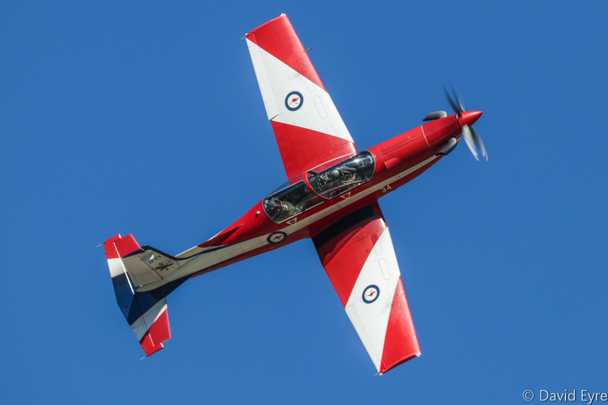 A23-034 Pilatus PC-9/A (MSN 534) of 2 Flying Training School (2 FTS), RAAF, at RAAF Pearce - Fri 9 June 2017. Solo aerobatic display by a 2 FTS instructor, during the graduation ceremony for No.247 Pilots Course. This aircraft has previously served with the Central Flying School and Roulettes Aerobatic team, as well as 2 FTS. Photo © David Eyre