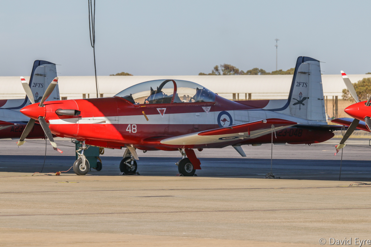 A23-048 Pilatus PC-9/A (MSN 548) of 2 Flying Training School (2 FTS), RAAF, at RAAF Pearce - Fri 9 June 2017. Photo © David Eyre