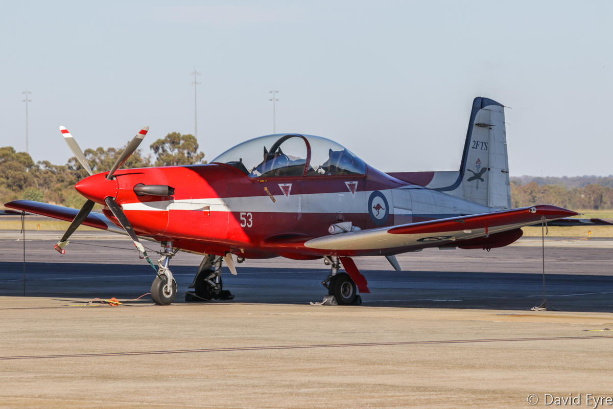 A23-053 Pilatus PC-9/A (MSN 553) of 2 Flying Training School (2 FTS), RAAF, at RAAF Pearce - Fri 9 June 2017. Photo © David Eyre
