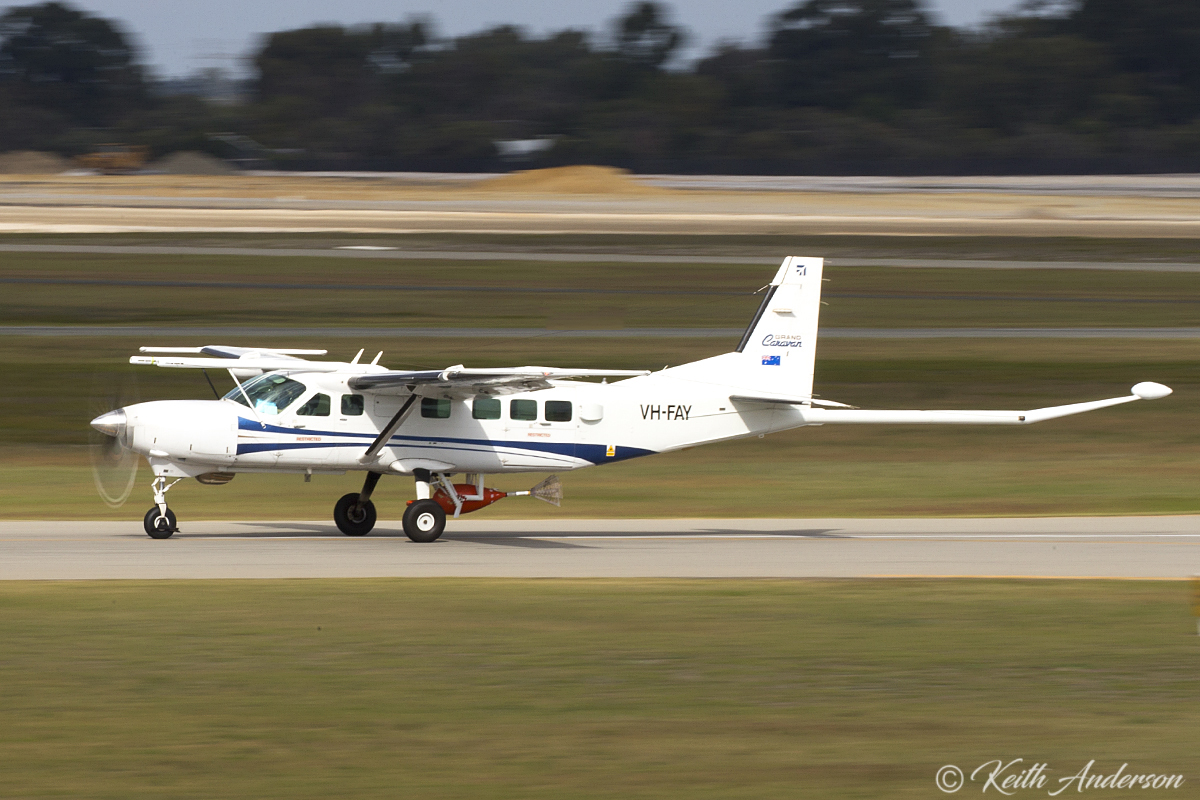 VH-FAY Cessna 208B Supervan 900 (MSN 208B0884) of CGG Aviation Australia at Jandakot Airport – 14 June 2017.