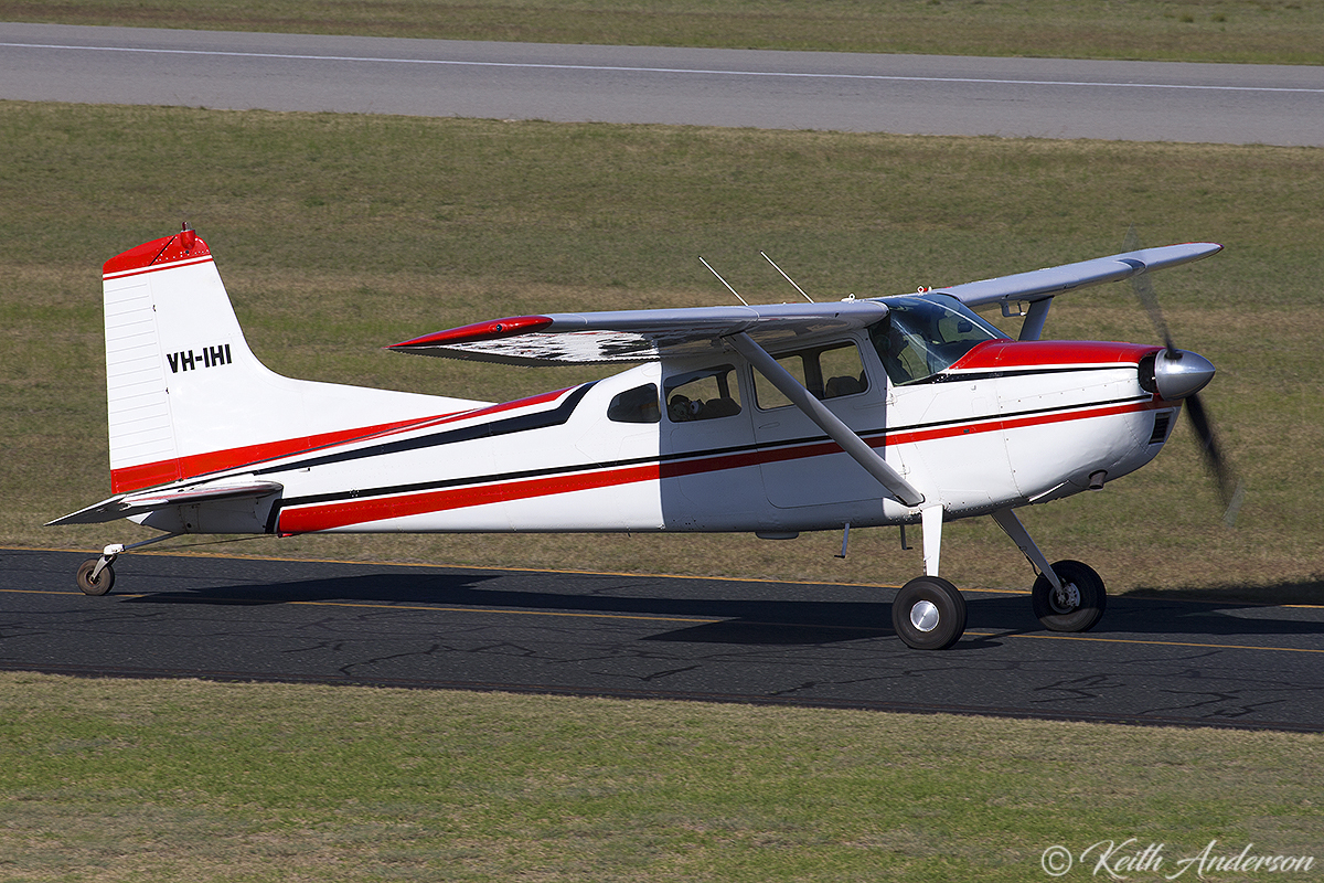 VH-IHI Cessna 185D (MSN 1850908) of AME Services P/L at Jandakot Airport – 17 June 2017.