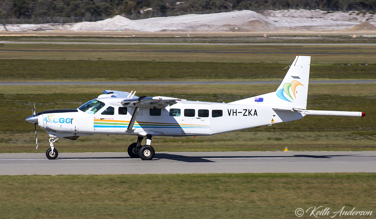 VH-ZKA Cessna 208B Grand Caravan (MSN 208B0860) of CGG Aviation (Australia) Pty Ltd, at Jandakot Airport - 17 June 2017.