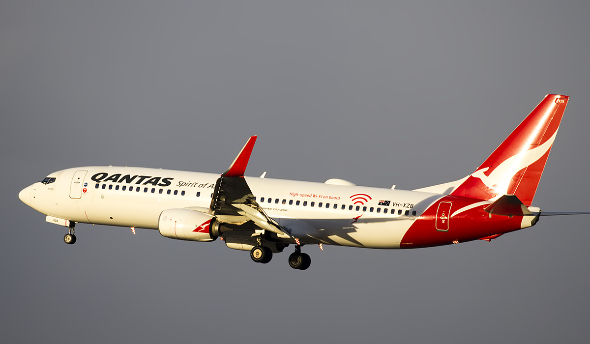 VH-XZB Boeing 737-838 (MSN 39360/4192) of Qantas at Perth Airport – 21 June 2017.