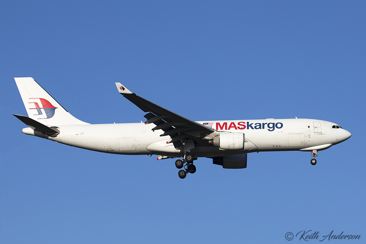 9M-MUB Airbus A330-223F (MSN 1148) of MasKargo at Perth Airport – 1 August 2017.