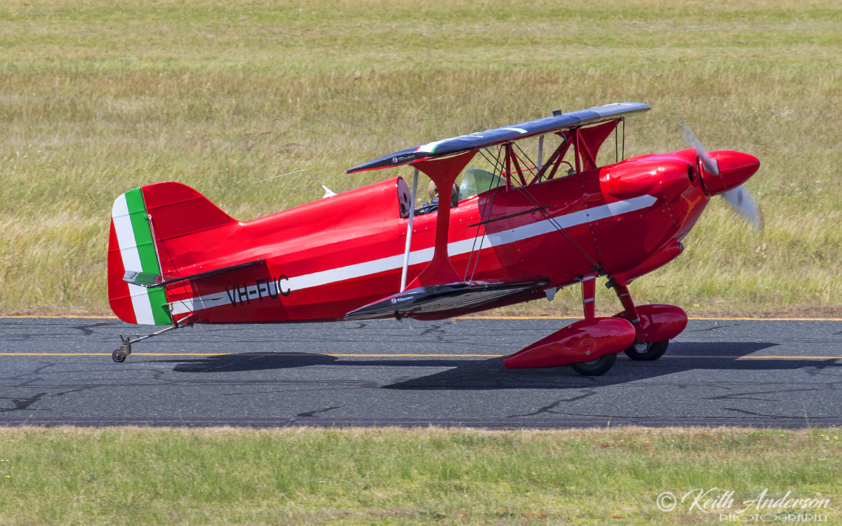 VH-FUC Pitts S-1D (MSN W89) owned by Carl Ende, at Jandakot Airport – 6 Oct 2017.