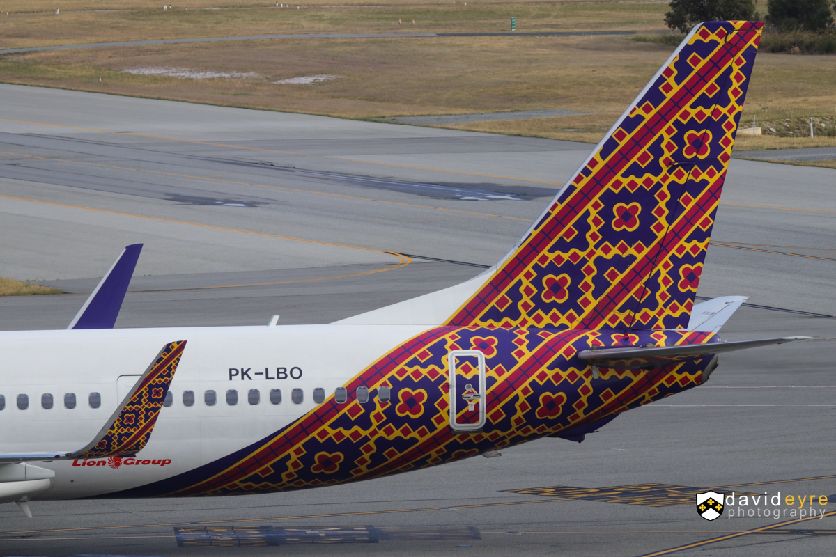 PK-LBO Boeing 737-9GPER (MSN 38731/4463) of Batik Air Indonesia, at Perth Airport - 29 October 2017. Being towed to bay 151A at 7:20am, in preparation for departure as flight ID6008 to Denpasar (Bali). Photo © David Eyre