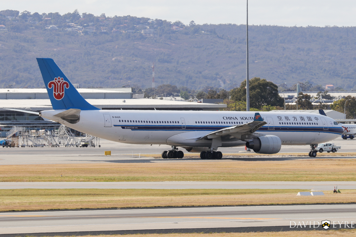 B-8426 Airbus A330-323X (MSN 1760) of China Southern Airlines, at Perth Airport - 2 November 2017. Flight CZ320 to Guangzhou, taxying to runway 03 at 8:26am. Photo © David Eyre