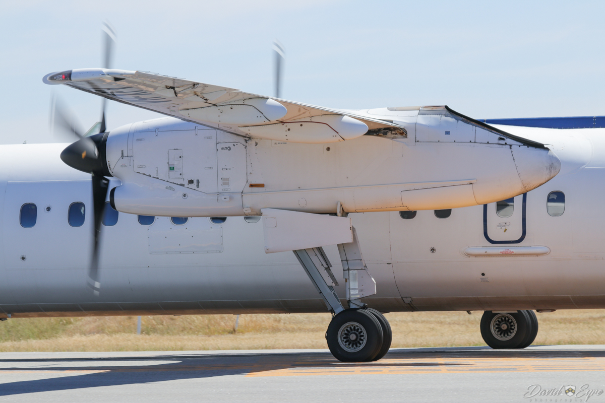VH-XFV De Havilland Canada DHC-8-314 Dash 8 (MSN 350) of Skippers Aviation, at Perth Airport - 3 November 2017. Taxying in at 9:51am after arriving from Duketon Gold Mine. Photo © David Eyre