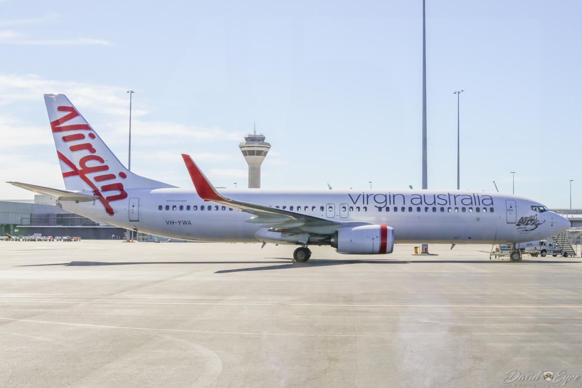 VH-YWA Boeing 737-800 (MSN 41042/6572) of Virgin Australia, named 'Cable Beach' at Perth Airport - 3 November 2017. Parked on Terminal 2 apron at 8:50am. It departed at 5pm to Adelaide. This aircraft was quite new, having been delivered on 16 September 2017. Photo © David Eyre