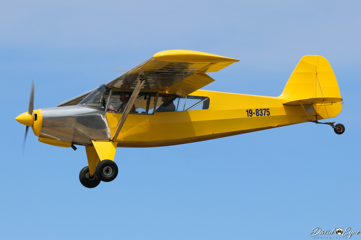 19-8375 Bearhawk Patrol (MSN 10) at the Sport Aircraft Builders Club (SABC) Annual Fly-In, Serpentine Airfield - 5 November 2017. Photo © David Eyre. Registered 23 July 2013. The Bearhawk Patrol was designed by Robert Barrows of Virginia, USA, to improve on the Piper PA-18 Super Cub. It has greater speed, climb rate and endurance; improved slow speed, stall and spin characteristics; and a large baggage door.