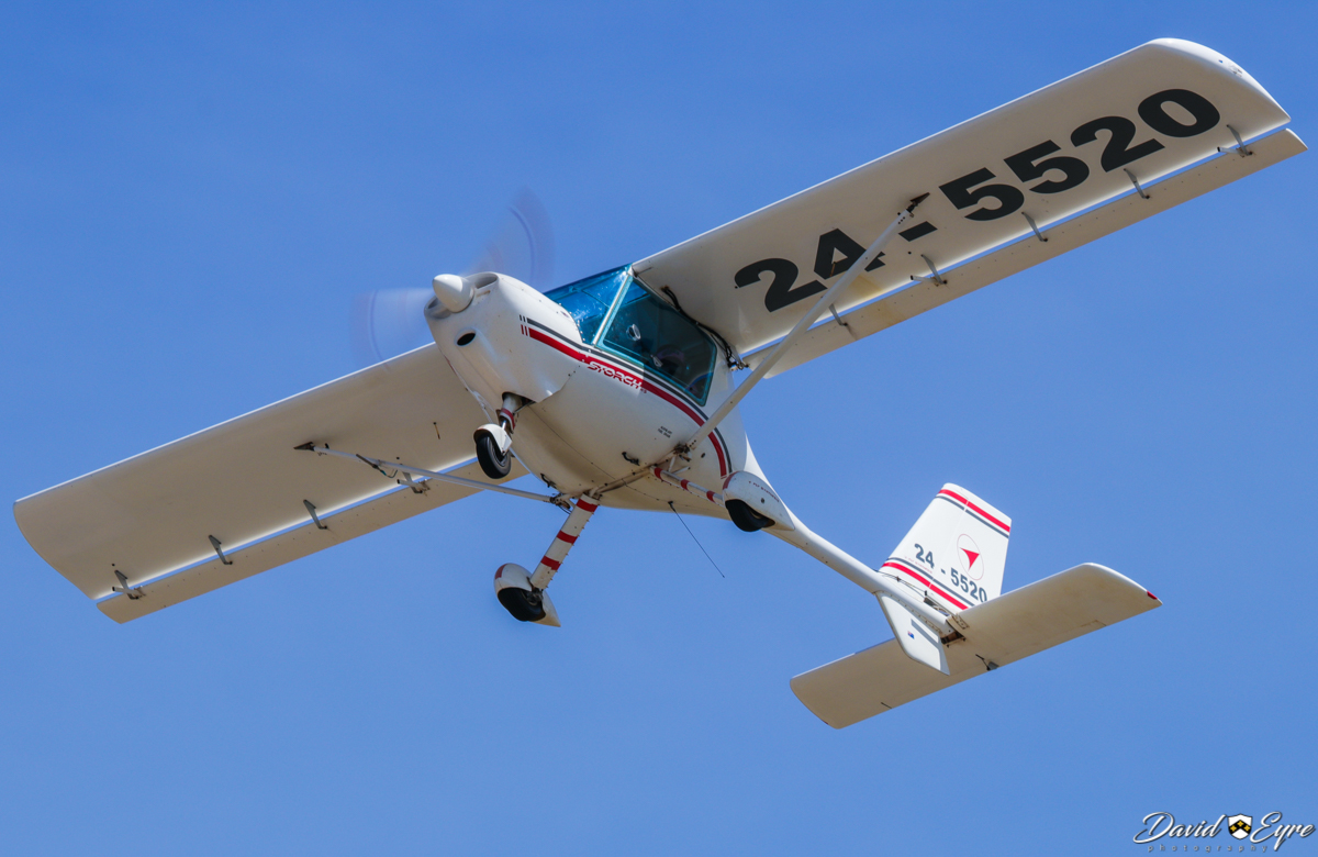 24-5520 Fly Synthesis Storch HS (MSN 397A-453) at the Sport Aircraft Builders Club (SABC) Annual Fly-In, Serpentine Airfield - 5 November 2017. Photo © David Eyre. The Fly Synthesis Storch is a two-seat, Italian-designed ultralight.